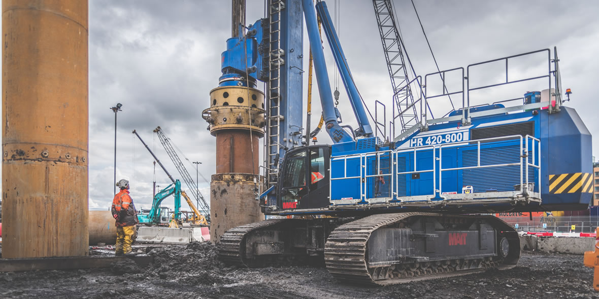 Rotary Bored Piling, CFA Piling, Relief Drilling for Sheet Piling and Driving Sheet Piles